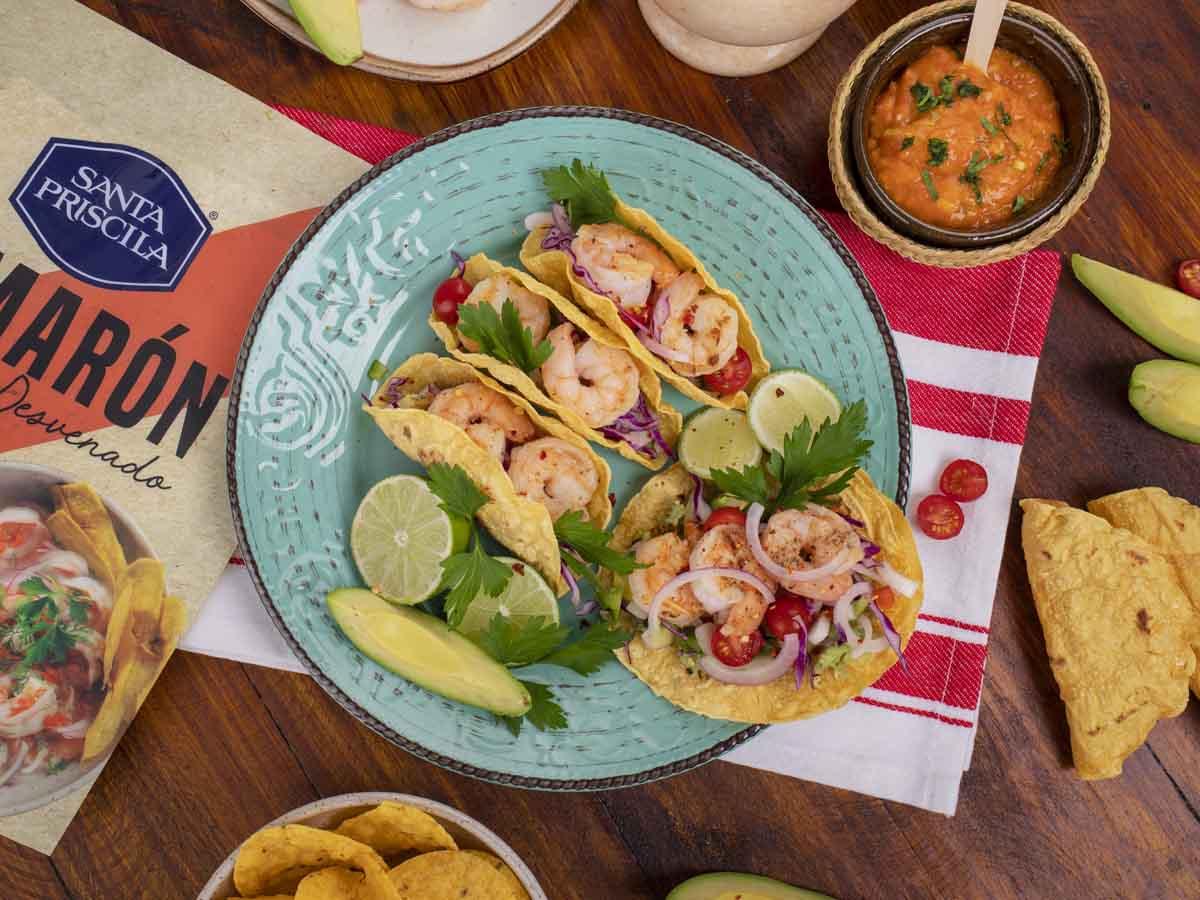 Recetas Santa Priscila - Tacos de camarón Santa Priscila