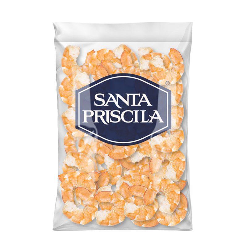 Santa Priscila - Colas de Camaron Precocido Pelado y Desvenado Talla 36-40