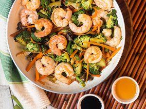 Santa Priscila - Camarones con verduras